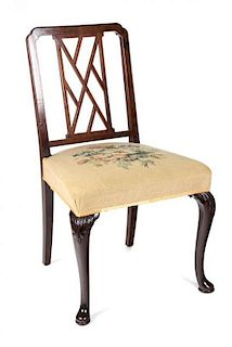 A George III Mahogany Side Chair Height 35 inches.