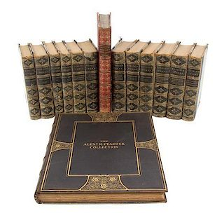 A Group of Fourteen Leather Bound Books