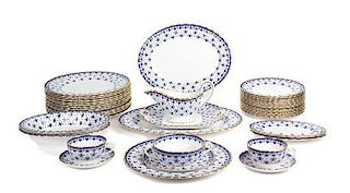 A Partial Spode Porcelain Dinner Service Diameter of first 10 1/2 inches.