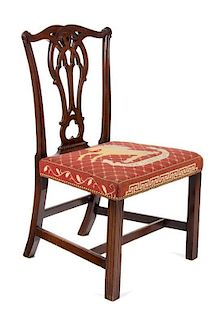 A Chippendale Style Mahogany Side Chair Height 37 inches.