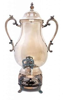 A Silver Plate Coffee Urn Height 22 1/2 inches