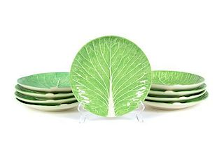 A Set of Nine Dodie Thayer Lettuce Ware Salad Plates Diameter 8 1/2 inches.