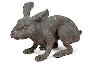 A Bronze Model of a Hare Height 11 inches.
