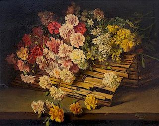 Alexander Spendal, (Austrian, 1890-1973), Table Top Still Life with Flowers
