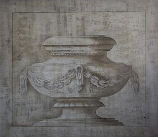 Artist Unknown, (20th century), En Grisaille Painting of an Urn
