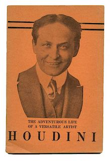 Houdini, Harry. The Adventurous Life of a Versatile Artist. Houdini [cover title]. [New York], (1922
