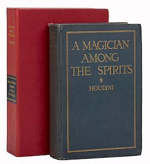 Houdini, Harry. A Magician Among the Spirits. New York: Harper & Bros., 1924. First Edition. Blue cl