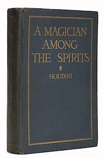 Houdini, Harry. A Magician Among the Spirits [Signed Twice]. New York, 1924. First Edition. Gilt-let