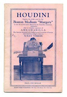 Houdini, Harry. Houdini Exposes the Boston Medium сMargery.о New York, 1924. Original pictorial wrap