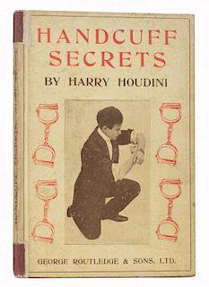 Houdini, Harry. Handcuff Secrets. London: George Routledge, 1910. PublisherНs pictorial boards (FryН