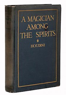 Houdini, Harry. A Magician Among the Spirits. New York, 1924. First Edition. PublisherНs cloth gilt