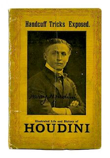 Houdini, Harry. Handcuff Tricks Exposed. [London], ca. 1911. Pictorial wrappers bearing the сHoudini