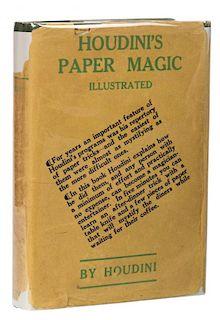 Houdini, Harry. HoudiniНs Paper Magic. New York: Dutton, 1929. Third printing. Green cloth stamped i