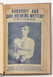 [Houdini Imitator] Selby, W. Handcuff and Gaol Breaking Mystery Exposed. Manchester: Daisy Bank Prin
