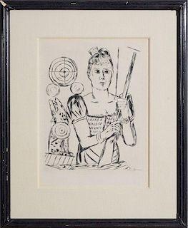 MAX BECKMANN (1884-1950): SHOOTING GALLERY (SCHIESSBUDE), FROM JAHRMARKT