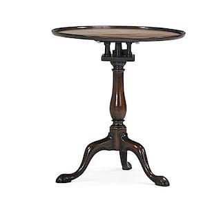 GEORGE II WALNUT TILT TOP TABLE