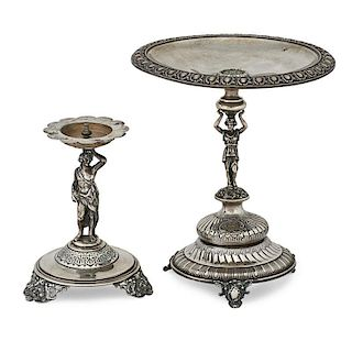 AUSTRIAN STERLING SILVER FIGURAL COMPOTES