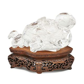 CARVED ROCK CRYSTAL QUAIL