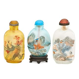 CHINESE REVERSE-PAINTED SNUFF BOTTLES