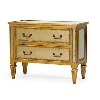 NEOCLASSICAL STYLE MIRRORED CHEST OF DRAWERS
