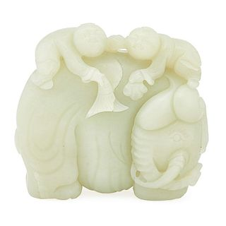 CHINESE JADE ELEPHANT CARVING