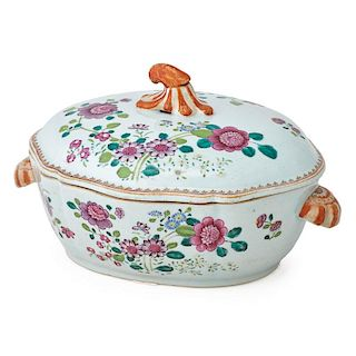 CHINESE EXPORT FAMILLE ROSE LIDDED TUREEN