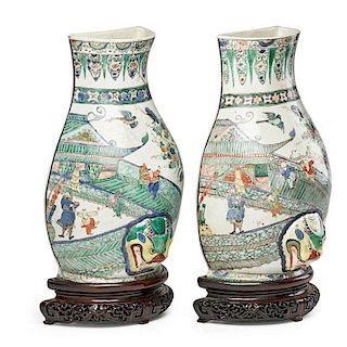 PAIR OF CHINESE PORCELAIN WATER FONTS