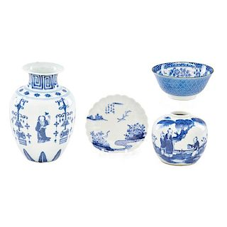 ASIAN BLUE AND WHITE PORCELAIN
