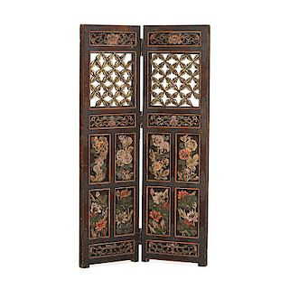 INDONESIAN CARVED WOOD SCREEN