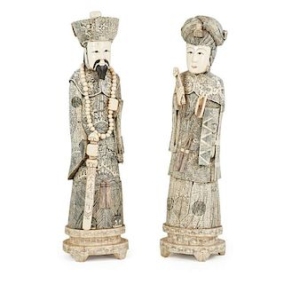 PAIR OF CHINESE STATUES