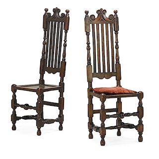 PAIR BANNISTER BACK SIDE CHAIRS