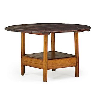 NEW ENGLAND FRUITWOOD HUTCH TABLE