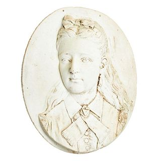ITALIAN MARBLE RELIEF OF A GIRL
