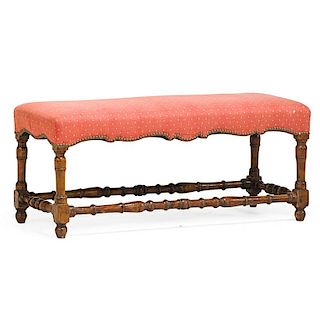 WILLIAM AND MARY STYLE WINDOW BENCH
