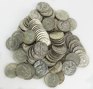 Lot of Eighty (80) Silver Liberty Half Dollars
