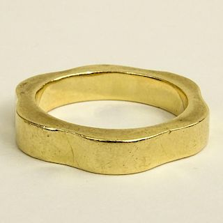 Man's Vintage 14 Karat Yellow Gold Wedding Band.