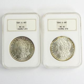 Two (2) Morgan Silver Dollars.