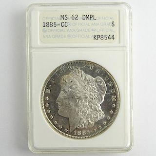 1885-CC Morgan Silver Dollar ANACS MS 62 DMPL