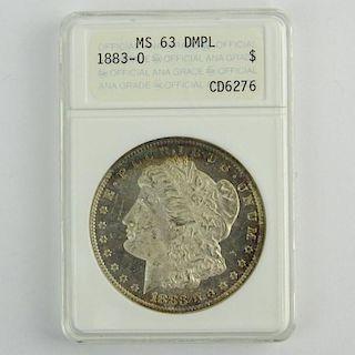 1883-O Morgan Silver Dollar MS63 DMPL ANACS CD6276.