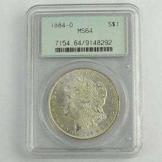 1884-O Morgan Silver Dollar MS64 PCGS 7154.64/9148292.