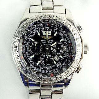 Men's Vintage Breitling Stainless Steel Chronometre Automatic Movement Watch.