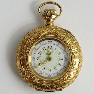 Antique Elgin 14 Karat Rose Gold Pocket Watch.