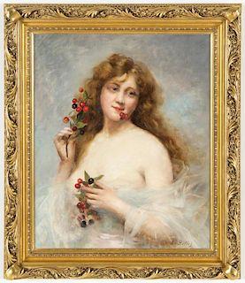 Auguste Emile Bellet (French, 1856-1911) Portrait of a Lady