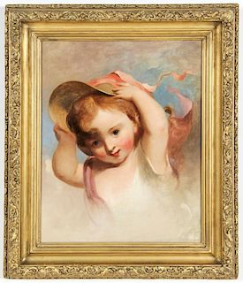 """Thomas Sully (American, 1783-1872) """"Too Much Wind"""""""