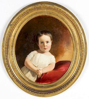 "Thomas Sully (American, 1783-1872) ""Portrait of Charlotte Godey"""