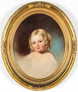 "Jane Cooper Sully (American, 1807-1877) ""Portrait of Elizabeth Godey"""