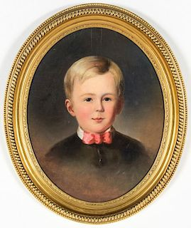 """Jane Cooper Sully (American, 1807-1877) """"Portrait of Harry Godey"""""""
