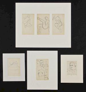 Julius Bloch (American, 1888-1966) 6 Original Drawings