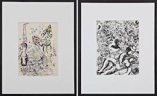 Marc Chagall (1887-1885) 2 Original Lithographs