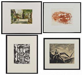 Various Printmakers: 4 Works